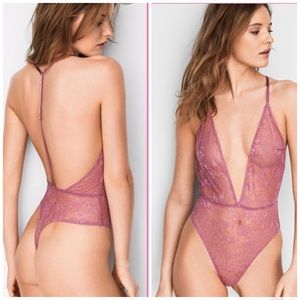 Victoria's Secret Sheer Wildflower Lace Teddy